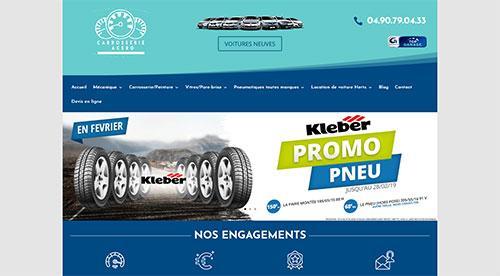Création de site inertnet  carrosserie-acero.com par nnw agence web