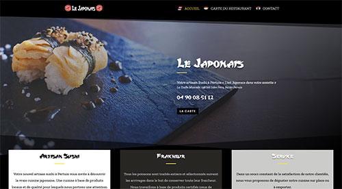 Création de site inertnet  Le japonnais pertuis sushis par nnw agence web