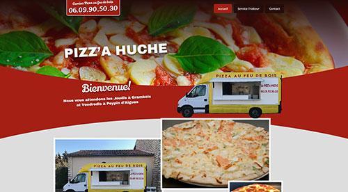 Création de site inertnet  pizza huche par nnw agence web