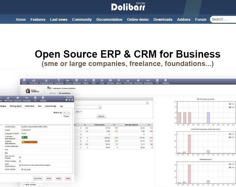 Dolibarr – ERP et CRM Gratuit