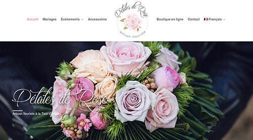 créarion site internet par nnw petale de rose