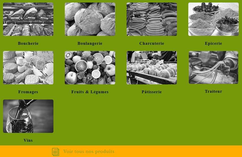 Market place - Gamme de produits