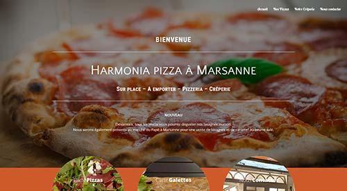 créarion site internet par nnw harmonia pizza