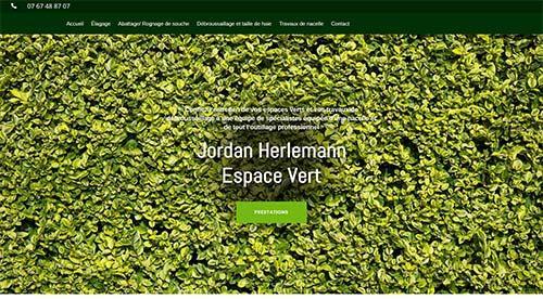 créarion site internet par nnw  jh espace vert
