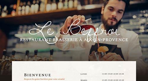 creation de site internet par nnw restaurant le parc